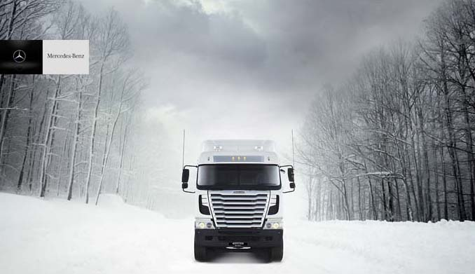 Mercedes Truck Snow copy